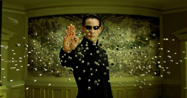 "Neo in the Matrix, finally believing he was ""the One""..."