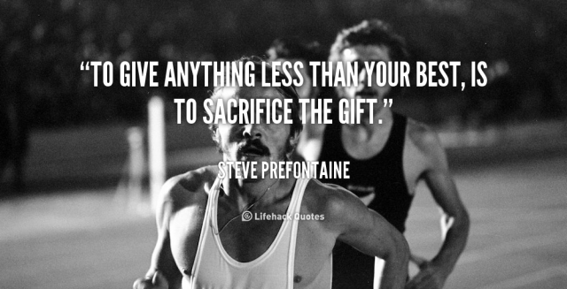 A quote from one of the greatest runners of all time...