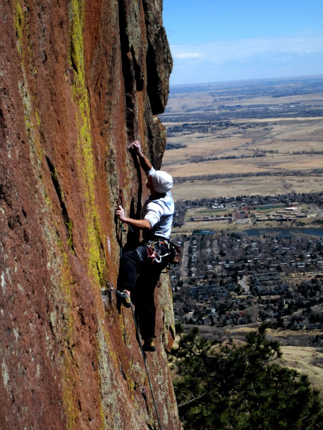 Mid Winter ascent of Discipline(5.12b) many years ago
