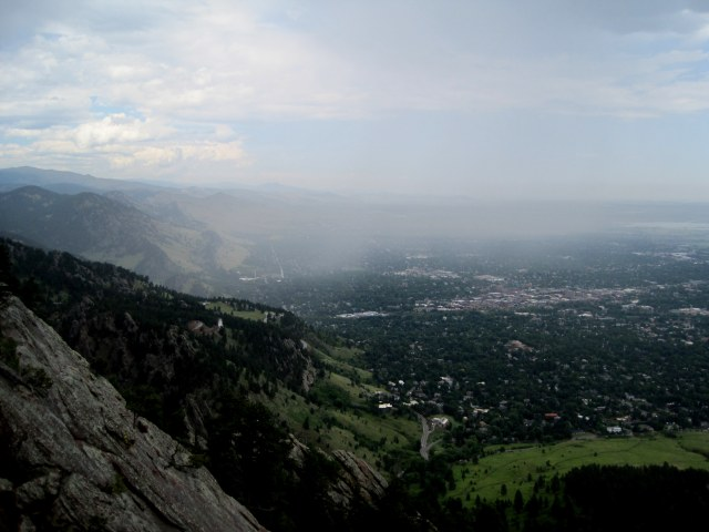 A look north from the top of the Third Flatiron...
