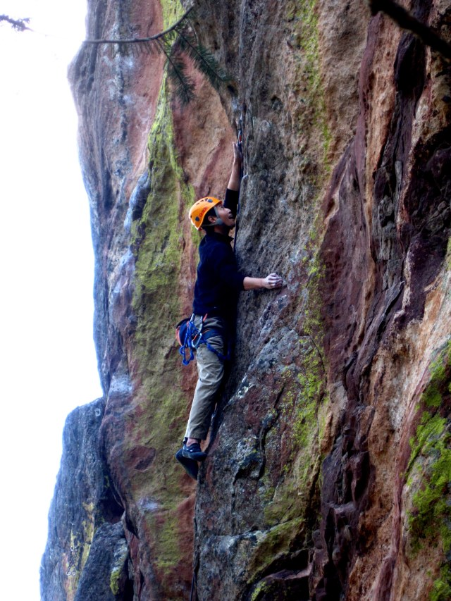 Tech Master Jay Park doing what he does best on one of the many world class sport routes in the Flatirons...