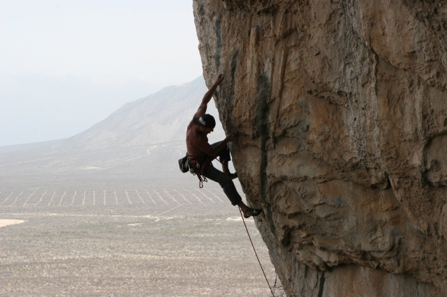 Rock Climbing many years ago in a remote part of Mexico called Culo De Gato...